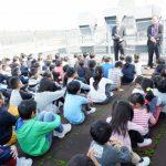 R元年10月31日 日末小学校との合同避難訓練【すえさみこども園】