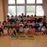 R2・9月 3・4・5歳児で枝豆取りをしました 【すえさみこども園】
